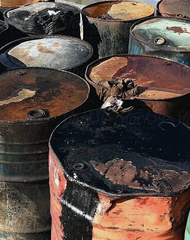 Oil garbage by Hamza Kulenović for Stocksy United