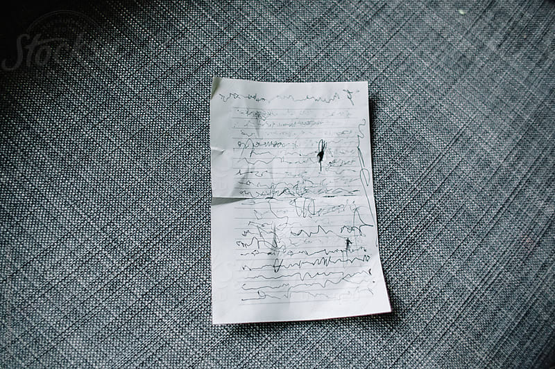 young child's handwriting by Maria Manco for Stocksy United