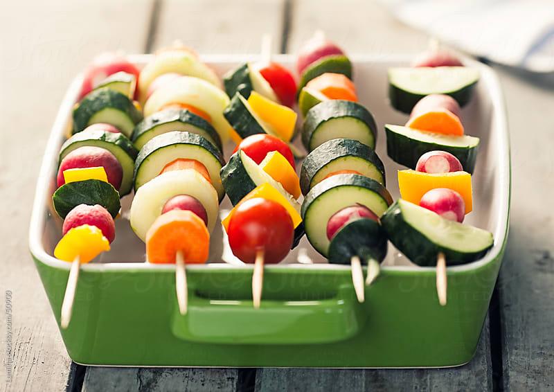 Vegetable Skewers by Lumina for Stocksy United