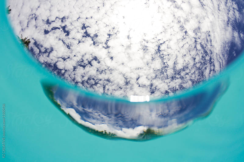 Water shot from below in Tahiti. by RZ CREATIVE for Stocksy United