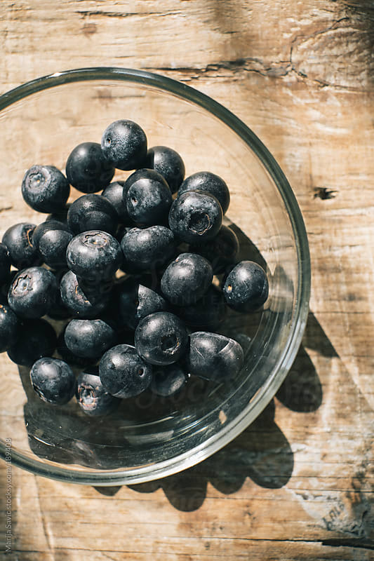 Bowl of Blueberries  by Marija Savic for Stocksy United