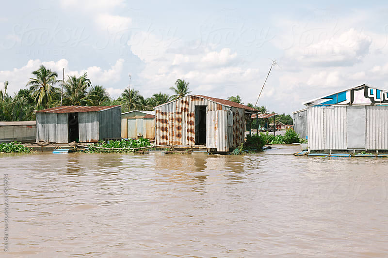 Floating houses by Sam Burton for Stocksy United