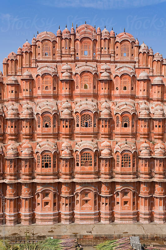 India, Rajasthan, Jaipur, Hawa Mahal, Palace of the Winds, built in 1799  by Gavin Hellier for Stocksy United