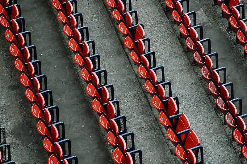 Empty Stadium Seats by Raymond Forbes LLC for Stocksy United