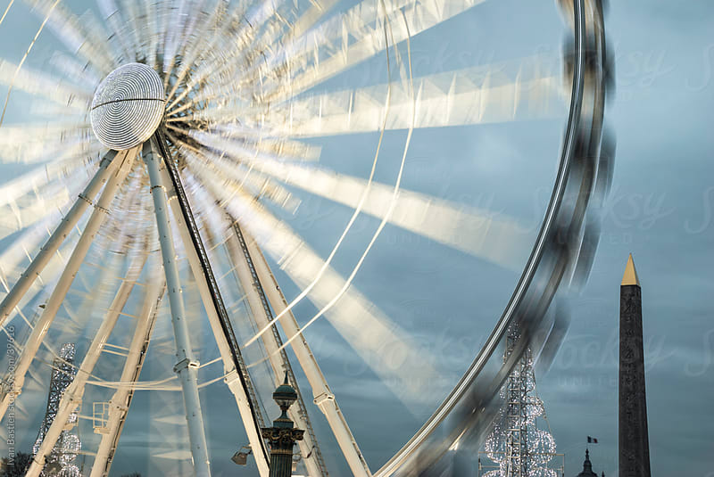 Ferris wheel and obellisk on Concorde Square by Ivan Bastien for Stocksy United