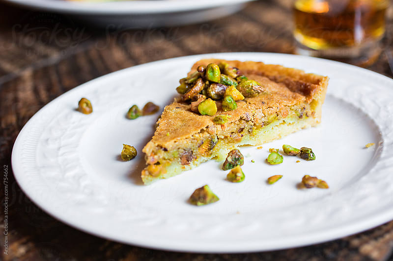 Pistachio Pie Slice by Andrew Cebulka for Stocksy United