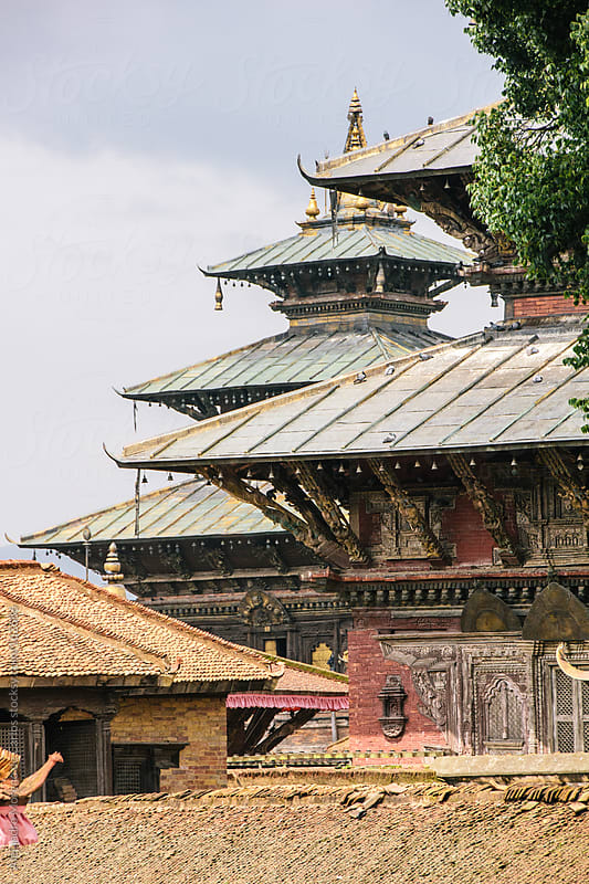 Temple - palace in Kathmandu, Nepal, Asia by Alejandro Moreno de Carlos for Stocksy United