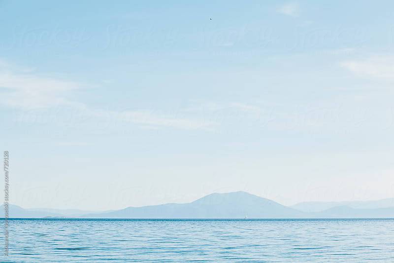 Minimalist seascapes in Greece by Aleksandar Novoselski for Stocksy United