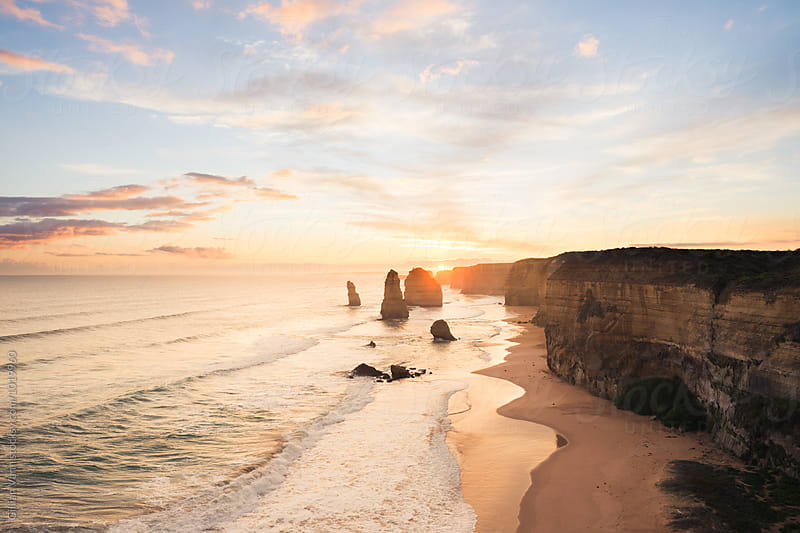 12 Apostles on the Great Ocean Road, Victoria by Gillian Vann for Stocksy United
