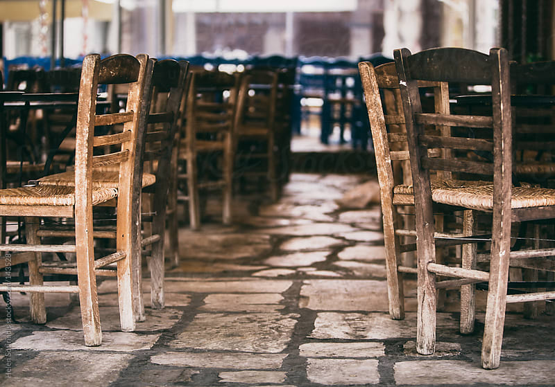 Chairs in a Greek Restaurant by Helen Sotiriadis for Stocksy United