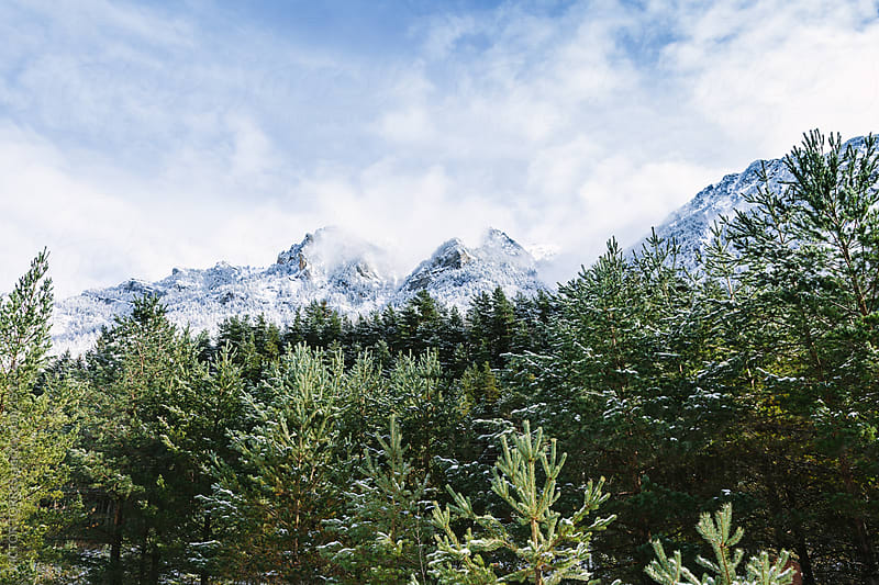 Snow in Pyrenees Mountains by VICTOR TORRES for Stocksy United
