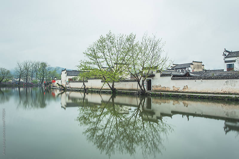 Hongcun,the village in Chinese painting,Anhui province,China by zheng long for Stocksy United