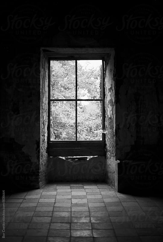 Window in old abandoned castle by Bor Cvetko for Stocksy United