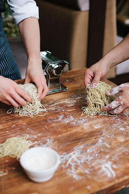 Chefs Prepare Handmade Pasta Noodles by Grady Mitchell for Stocksy United