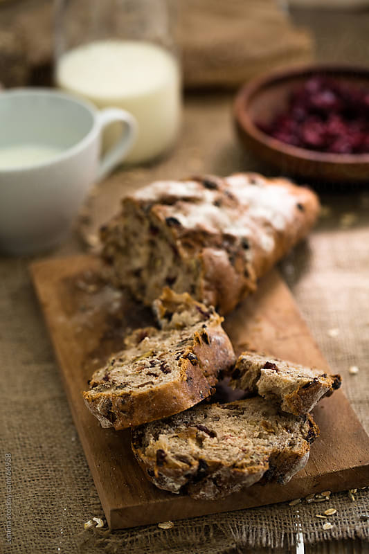 Home-Baked Sour Cherry Cake by Lumina for Stocksy United