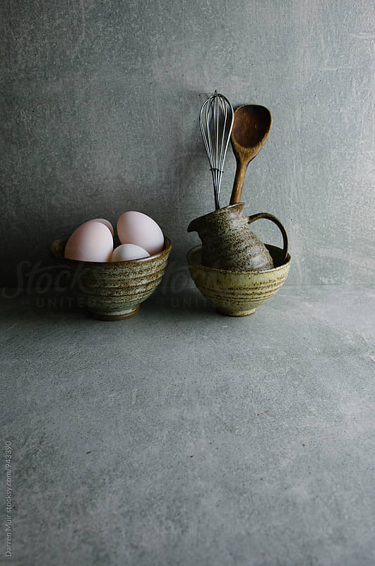 Duck eggs: Still life of duck eggs. by Darren Muir for Stocksy United