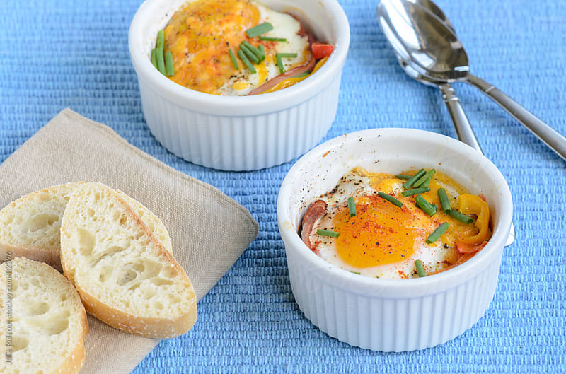 Egg en Cocotte by Julie Rideout for Stocksy United