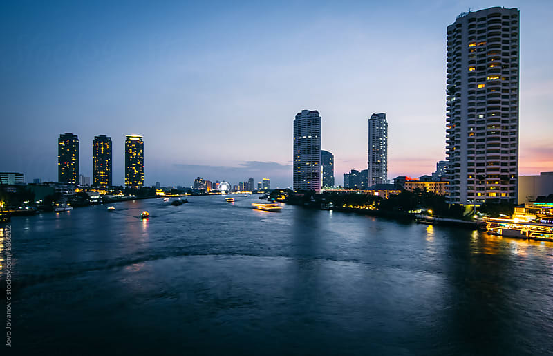 Bangkok - river Chao Phraya by Jovo Jovanovic for Stocksy United