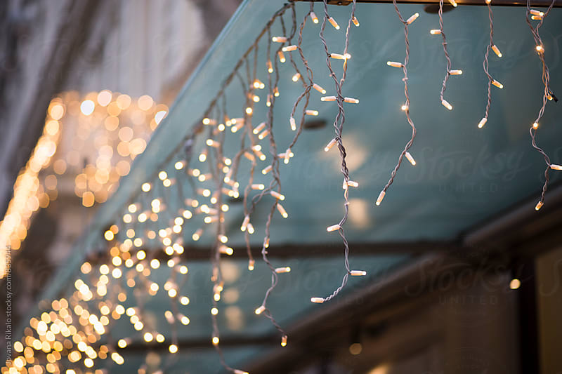 Christmas lights close up by Jovana Rikalo for Stocksy United