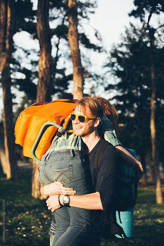 Couple Backpacking by Lumina for Stocksy United