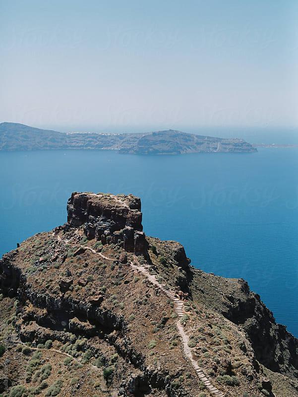 Landscape of Santorini island, Greece by Julia K for Stocksy United