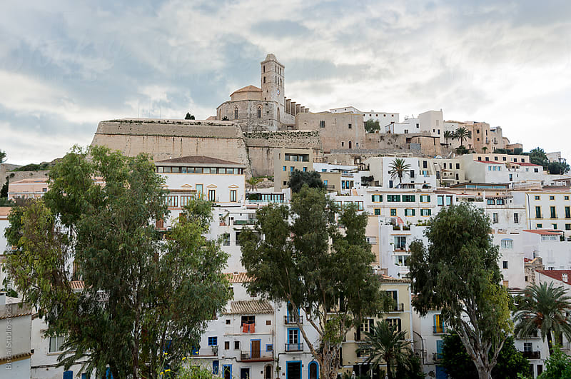 Old Town of Ibiza by Bisual Studio for Stocksy United