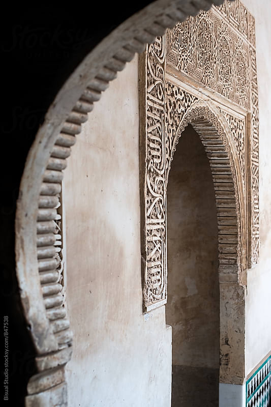 Detail of an arab door in the Alhambra, Granada by Bisual Studio for Stocksy United