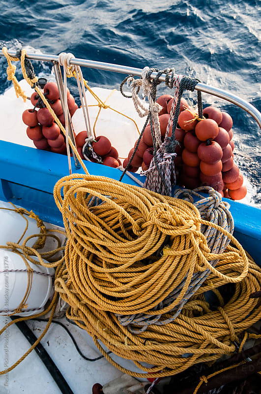 Gear on a commercial fishing boat, Fourni Islands, Greece. by Thomas Pickard for Stocksy United
