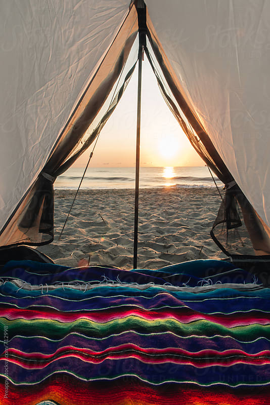 Beach camping by Preappy for Stocksy United