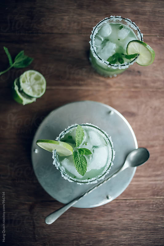 Cucumber & Mint Cocktail by Hung Quach for Stocksy United