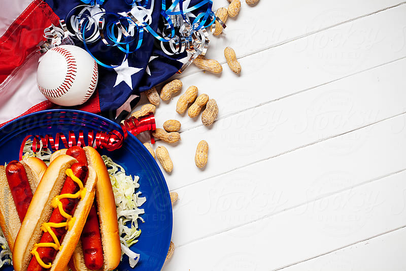 Background: Patriotic American Baseball Background by Sean Locke for Stocksy United