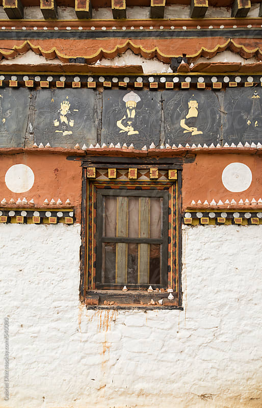 Fortification and window of house in Bhutan by Gabriel Diaz for Stocksy United