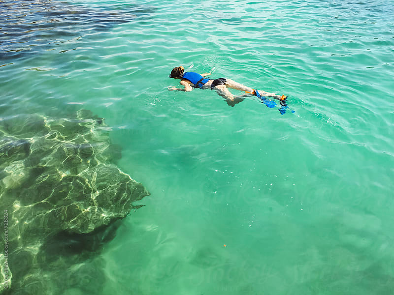 Snorkeling in ocean water by Carey Shaw for Stocksy United