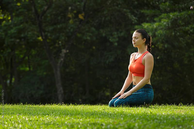 Yoga in the Park by Felix Hug for Stocksy United