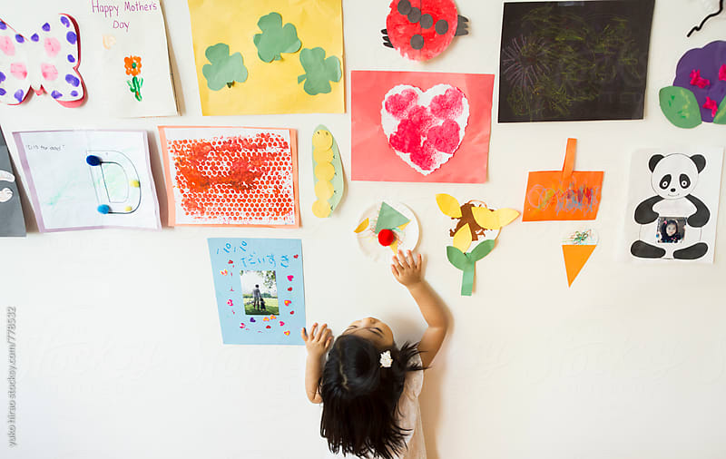 Creative child's art decoration on the wall by yuko hirao for Stocksy United