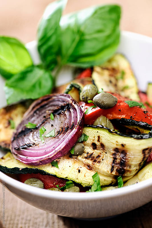 Food: Grilled vegetable salad by Ina Peters for Stocksy United