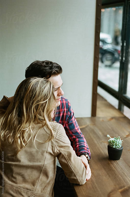 Couple at Cafe by Milles Studio for Stocksy United