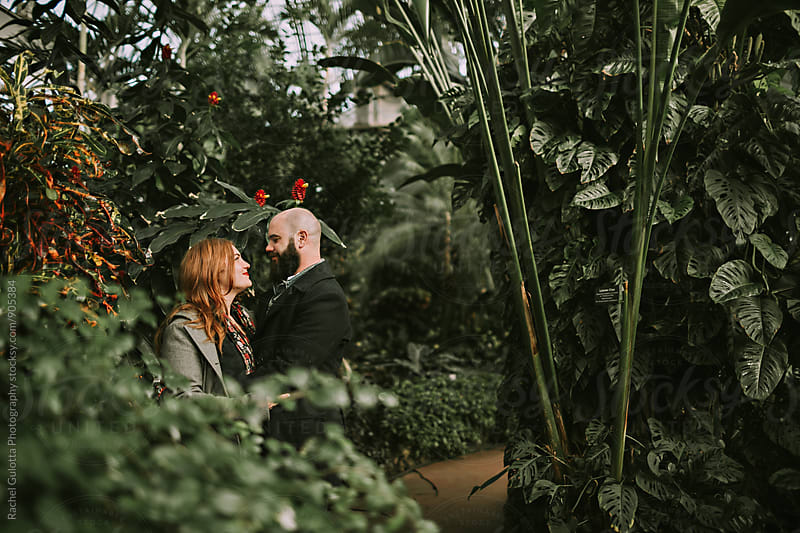 A Young Couple at Conservatory by Rachel Gulotta Photography for Stocksy United