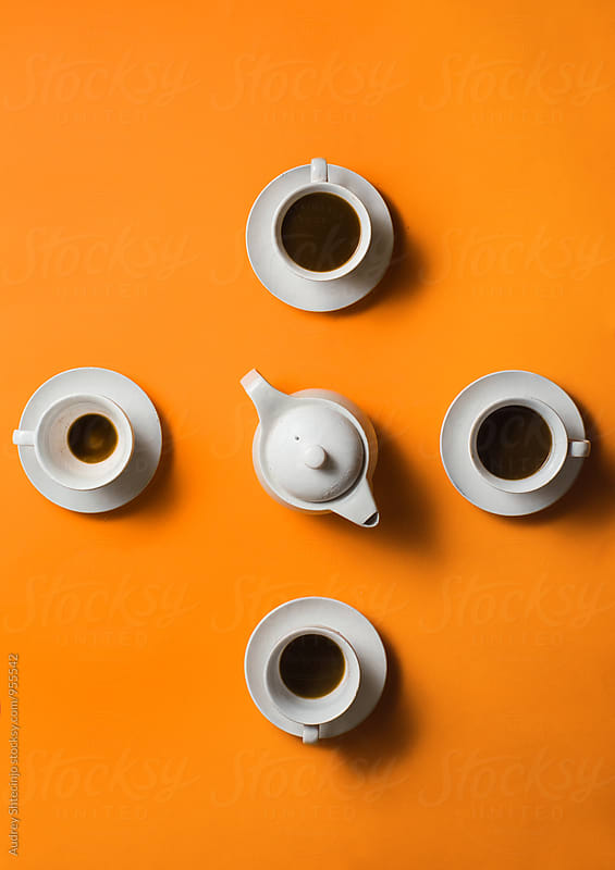 Coffee break clock by Audrey Shtecinjo for Stocksy United