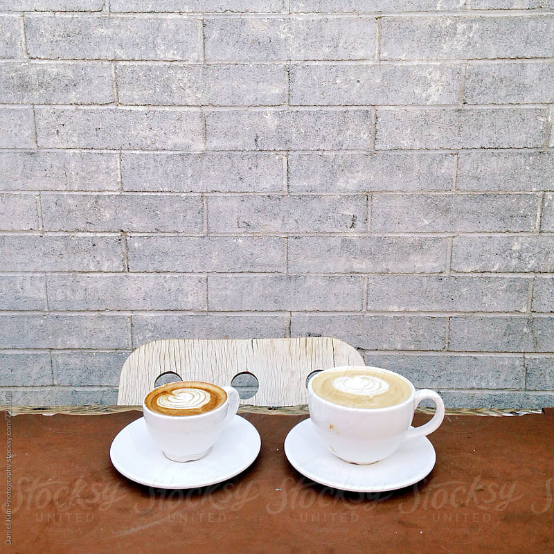 Two lattes by Daniel Kim Photography for Stocksy United