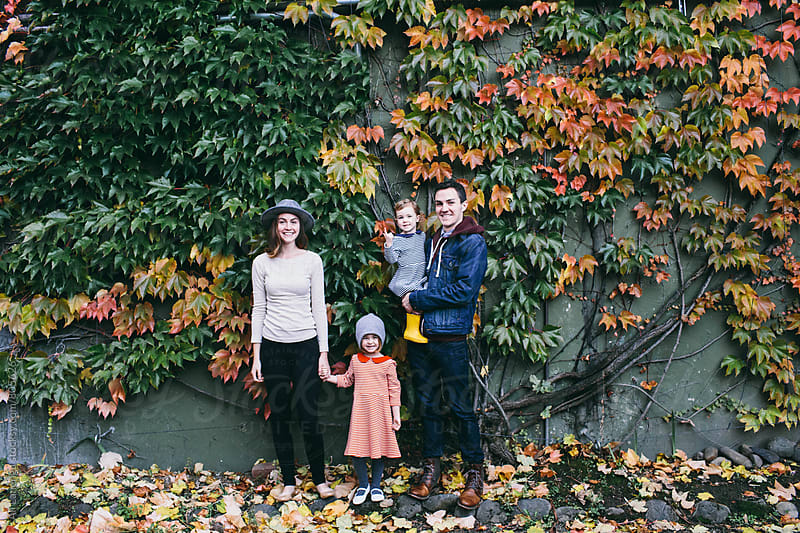 Fall family portrait by Ali Lanenga for Stocksy United