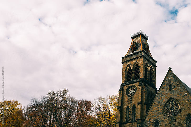 Detail of an old church by Isaiah & Taylor Photography for Stocksy United