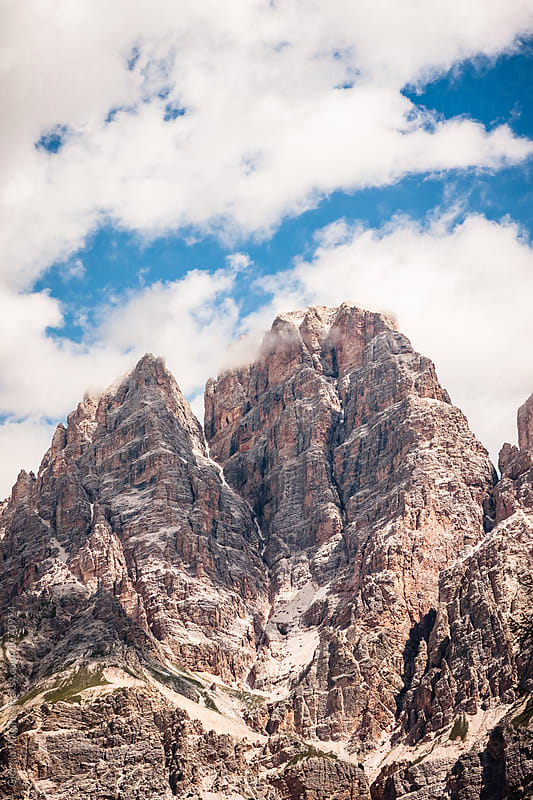 Peak of Italian Dolomites, Rocky Mountains during Summer by Giorgio Magini for Stocksy United