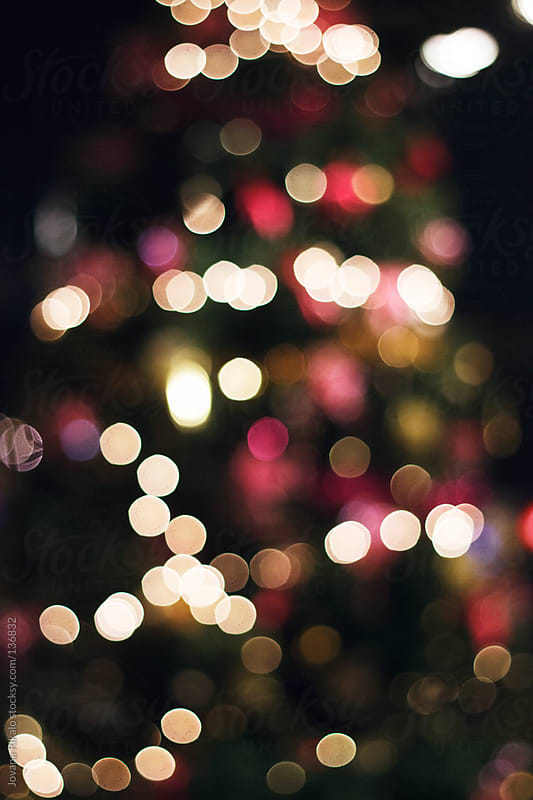 Christmas tree at night,blurry by Jovana Rikalo for Stocksy United