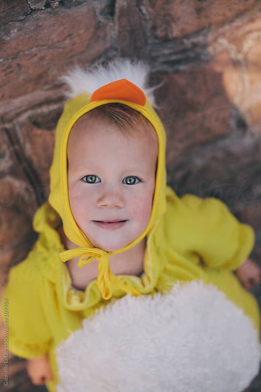Cute Little Kid in Chick Costume by Gabrielle Lutze for Stocksy United