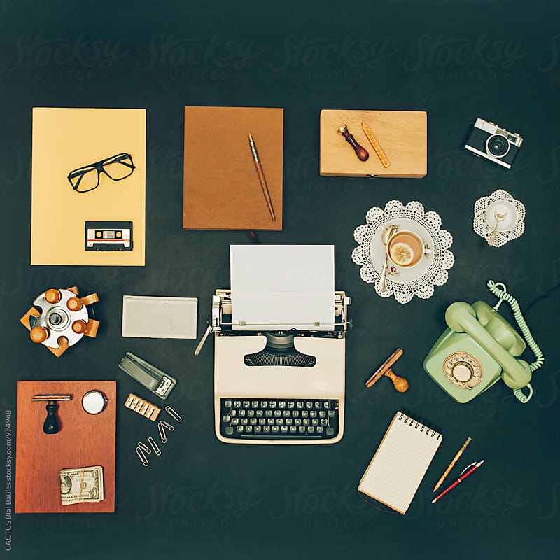 Vintage office desktop by Blai Baules for Stocksy United