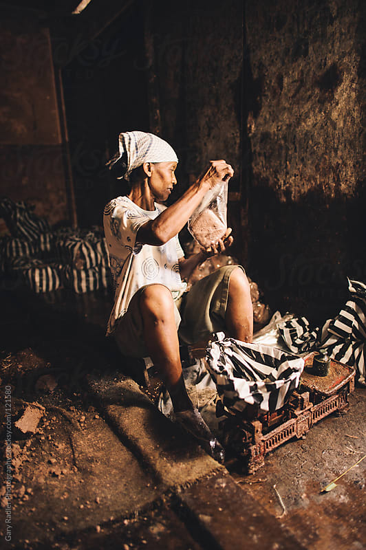Woman working at Sukawati Market, Bali by Gary Radler Photography for Stocksy United