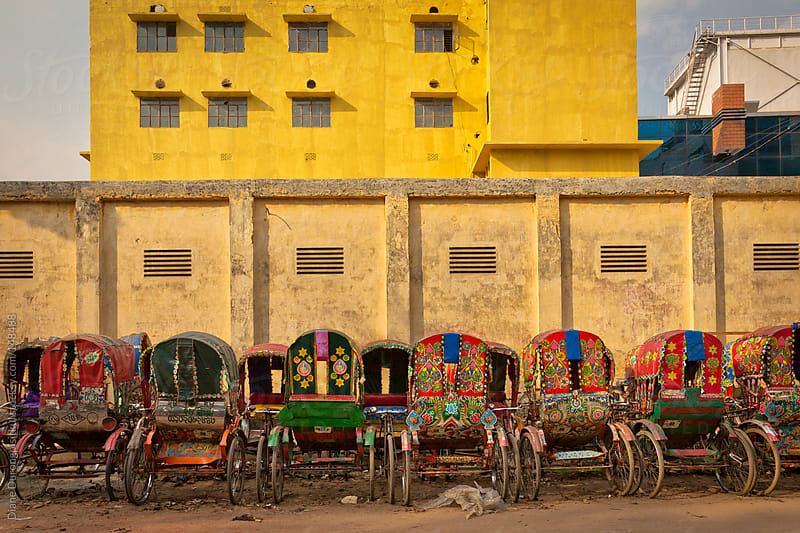 Bangladesh Rickshaw  by Diane Durongpisitkul for Stocksy United