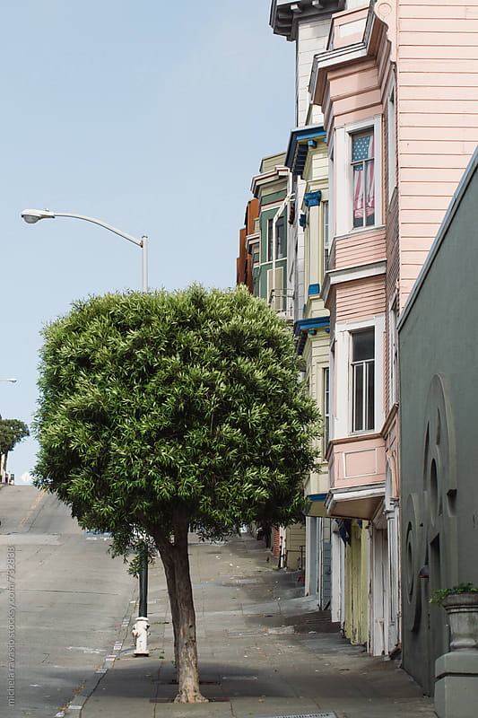 View of San Francisco street by michela ravasio for Stocksy United