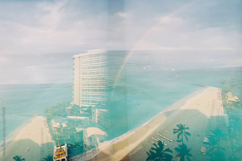 double exposure of waikiki beach by wendy laurel for Stocksy United